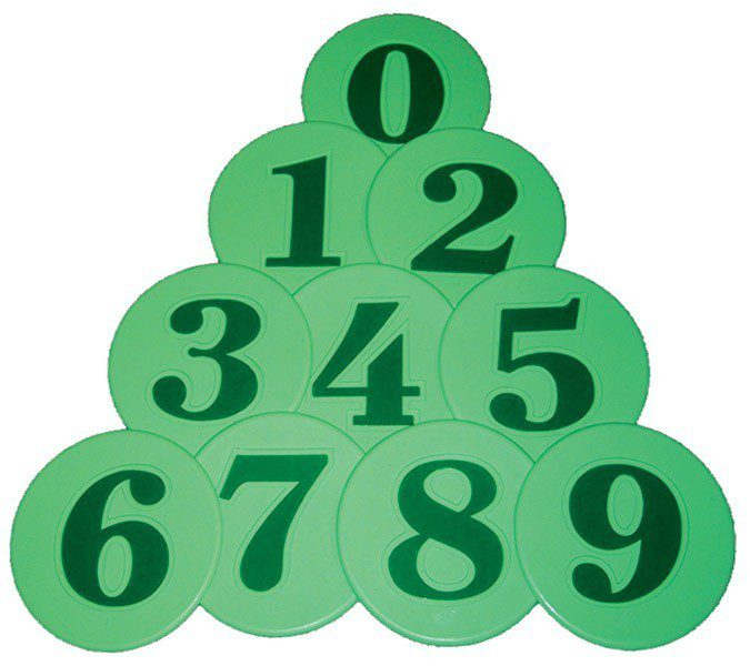 Numbers 0 9 Set Of 10 Us Gym Products