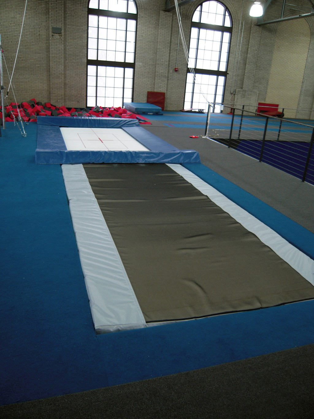 Gymnastics Gym University of Pennsylvania Trampoline