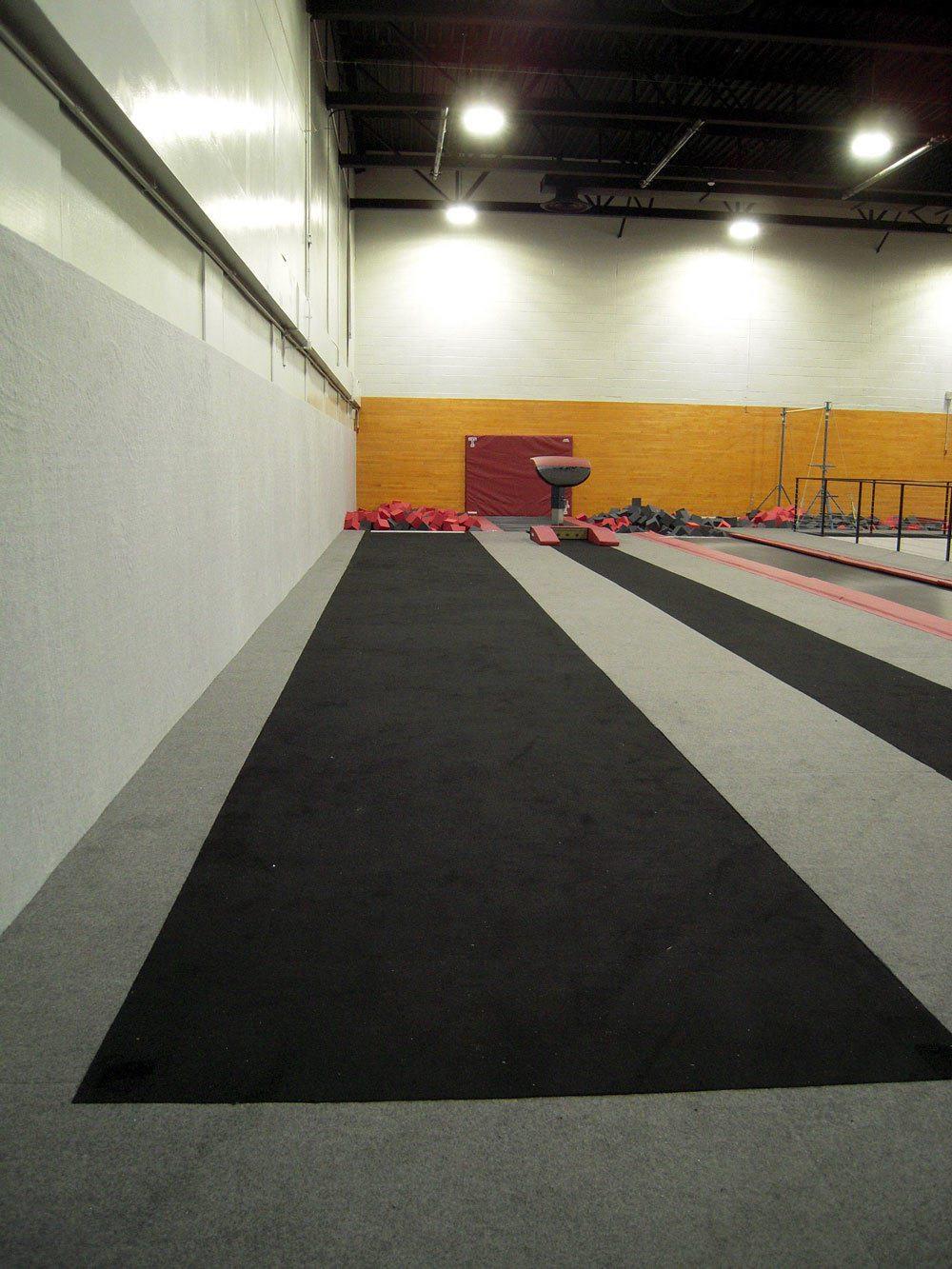Temple University Gymnastics Gym Tumbling Strip