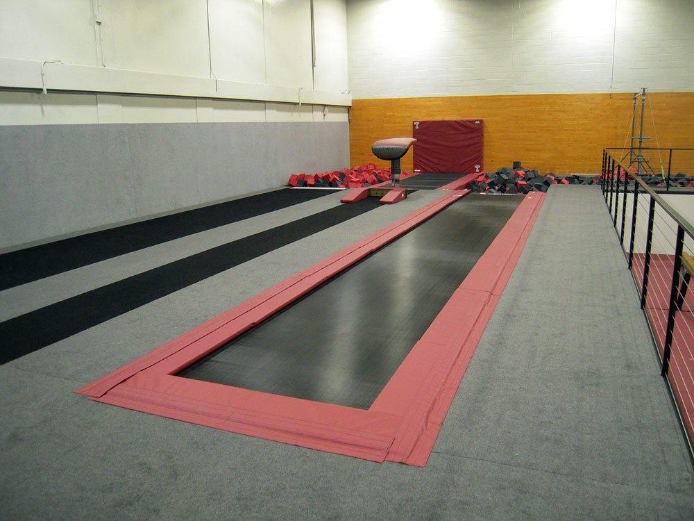 Temple University Gymnastics Tumbl Trak
