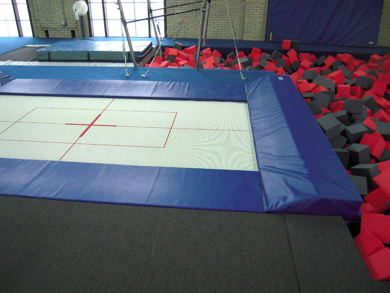 Gymnastics Gym University of Pennsylvania Inground Trampoline