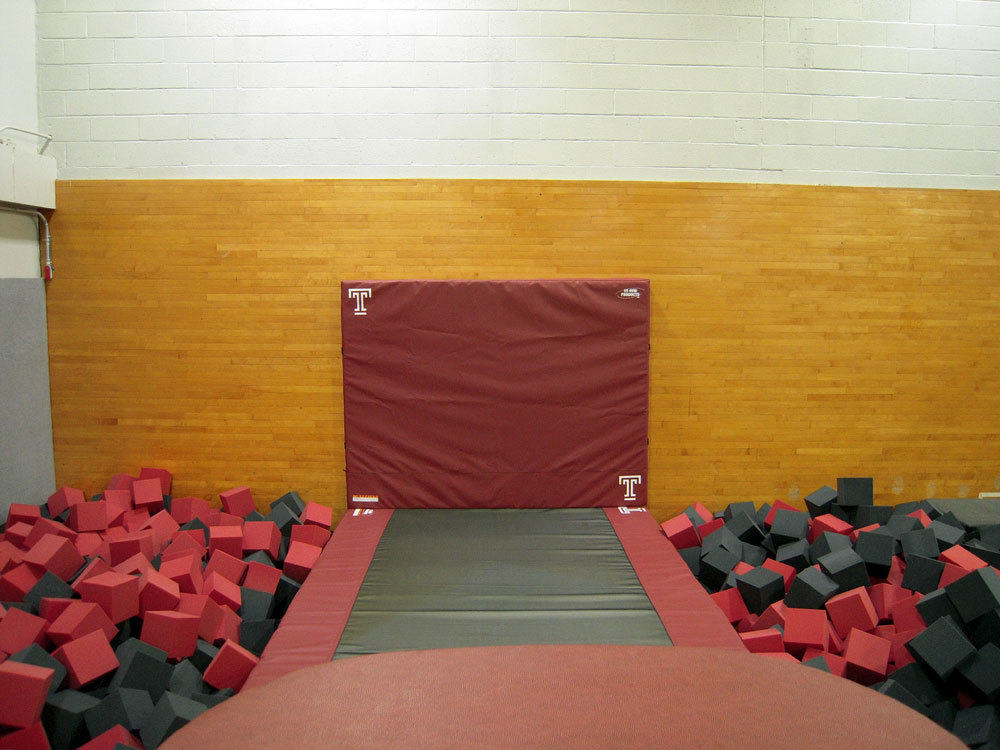 Temple University Gymnastics Foam Pit After