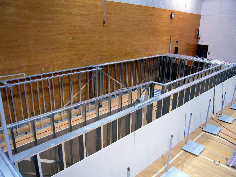 Temple University Gym Design Steel Track