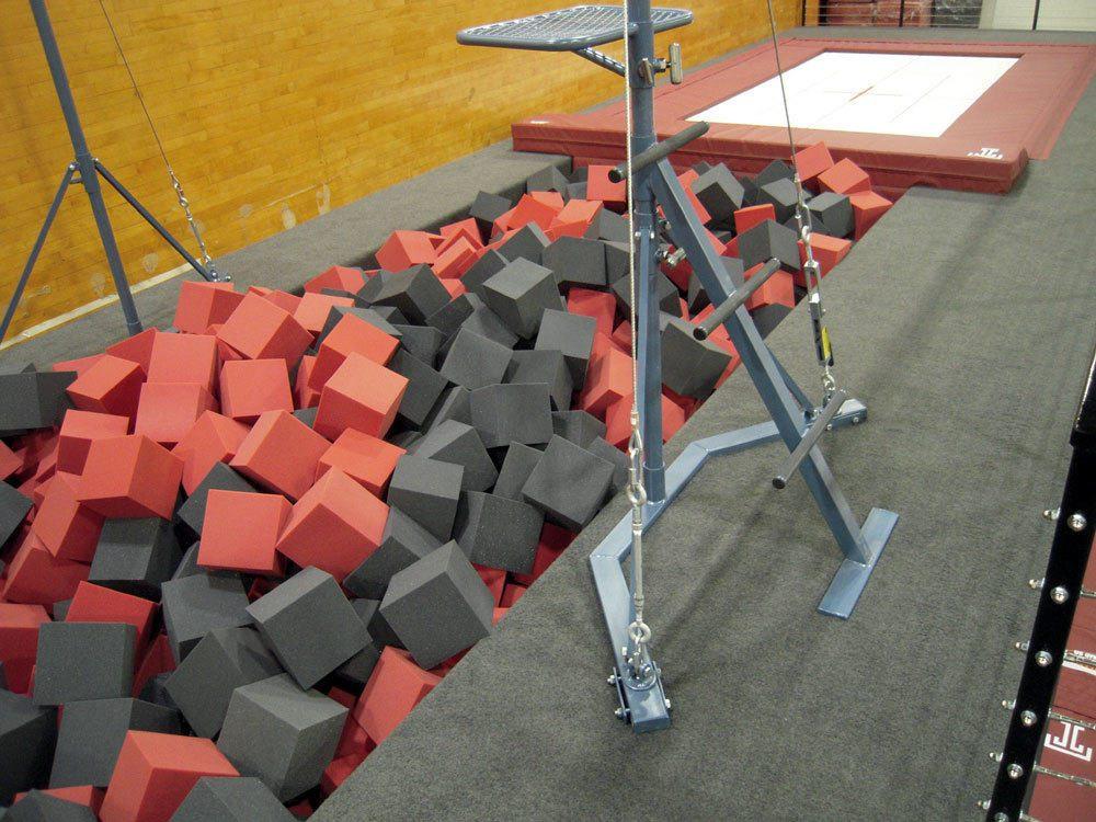 Temple Gymnastics Foam Area
