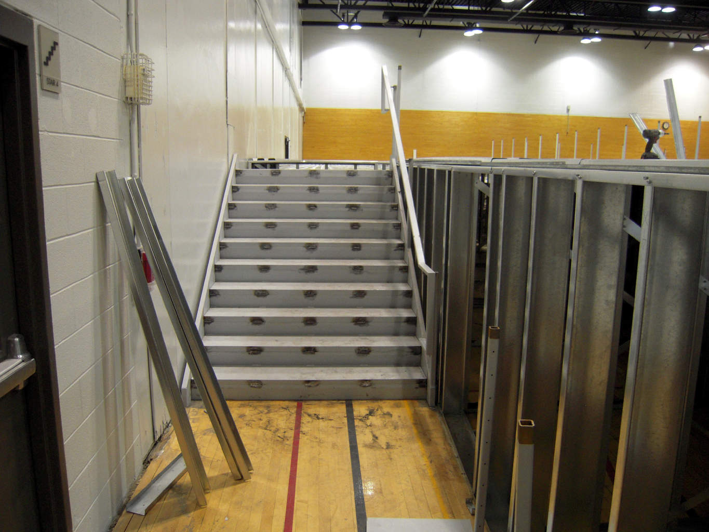 Temple University Gymnastics Steel Track