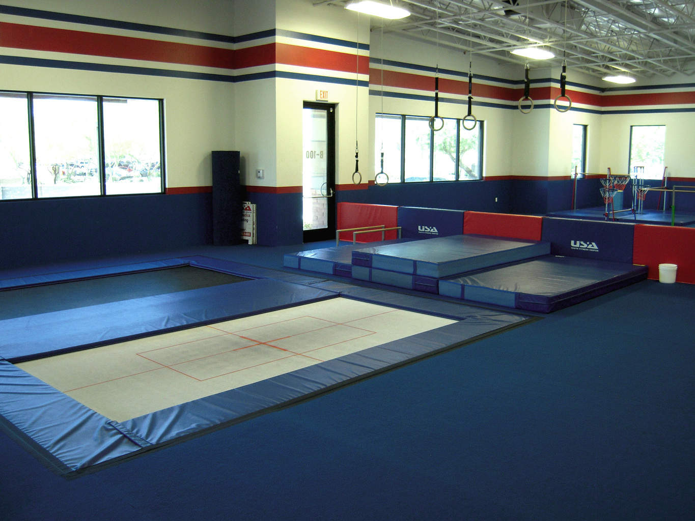 USA Youth Fitness Center Inground Trampoline