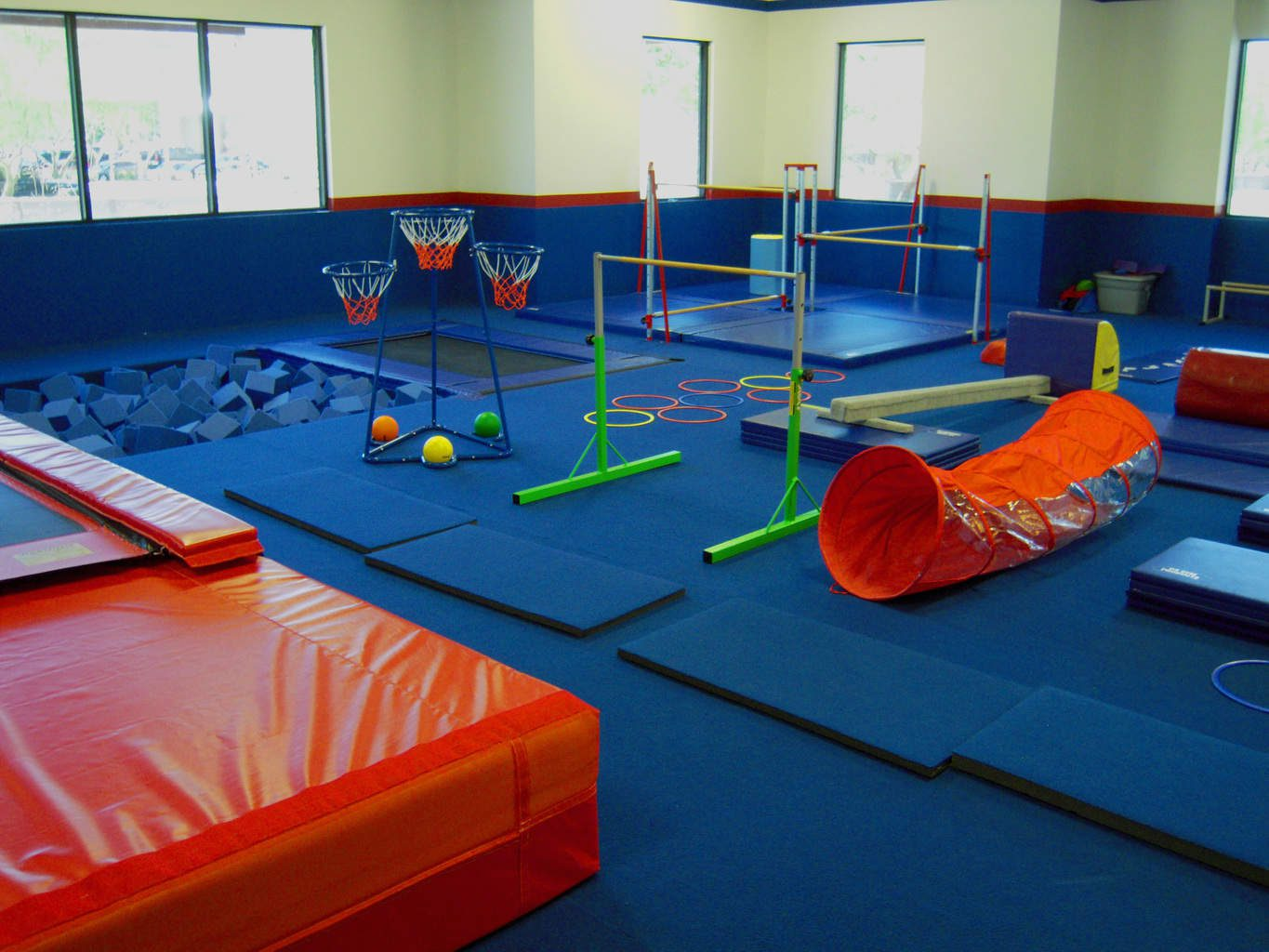 USA Youth Fitness Center Gymnastics Padded Area