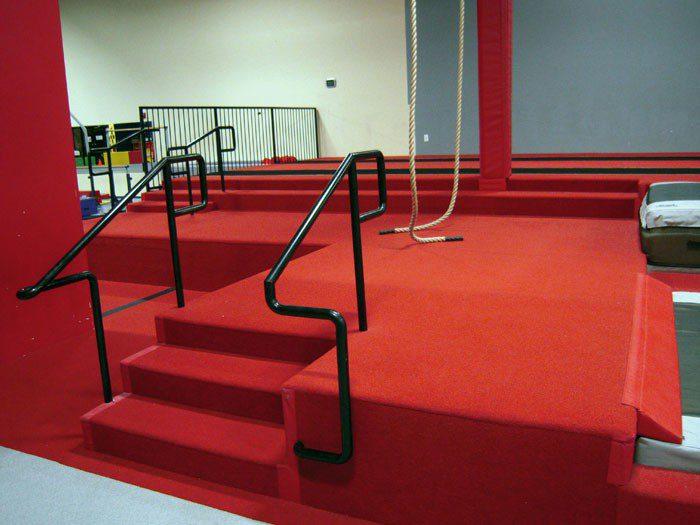 Team Attraction Gymnastics Main Staircase