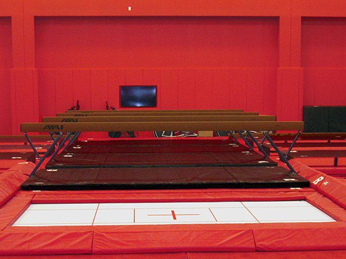Rutgers Gymnastics Balance Beams