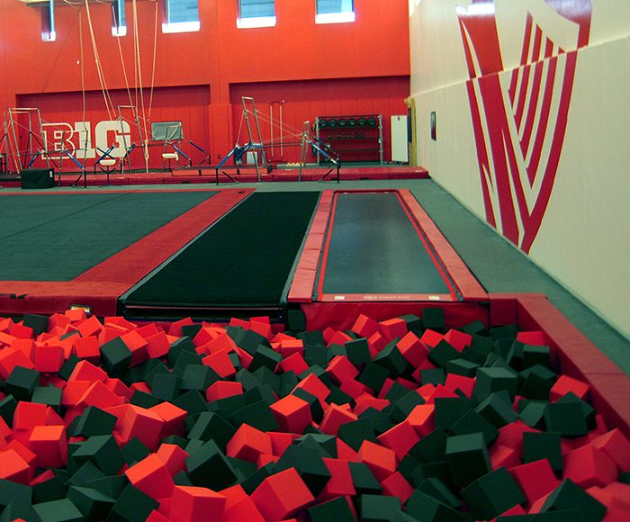 Gymnastics Tumbl Trak at Rutgers