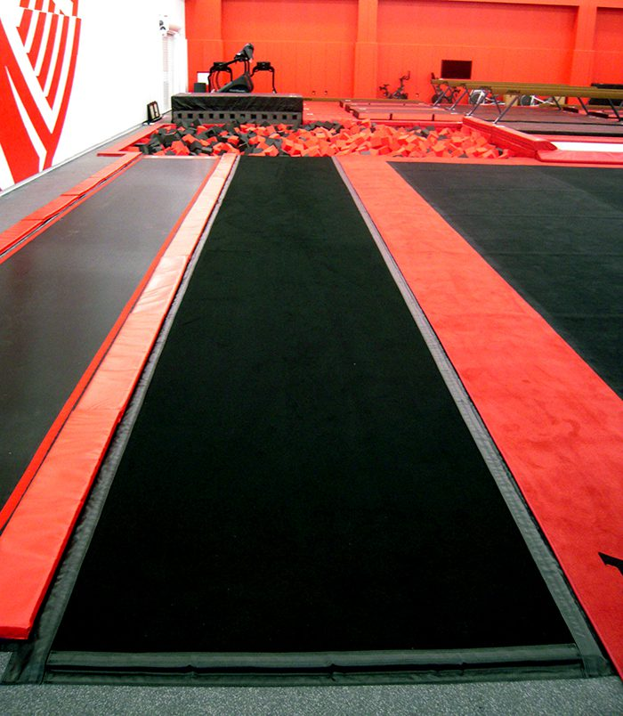 Gymnastics Tumbl Trak at Rutgers University