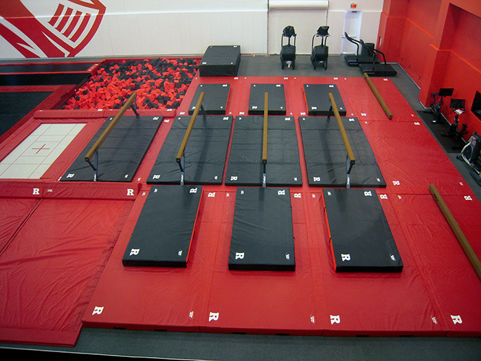 Rutgers Gymnastics Balance Beam Area