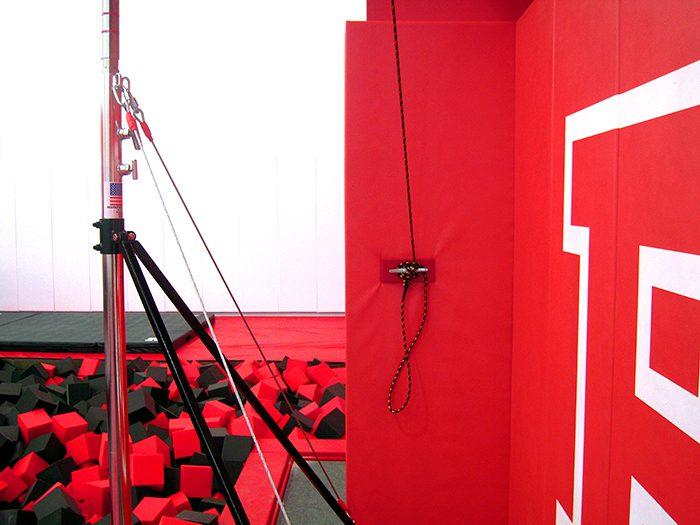 Rutgers Gymnastics Gym Climbing rope
