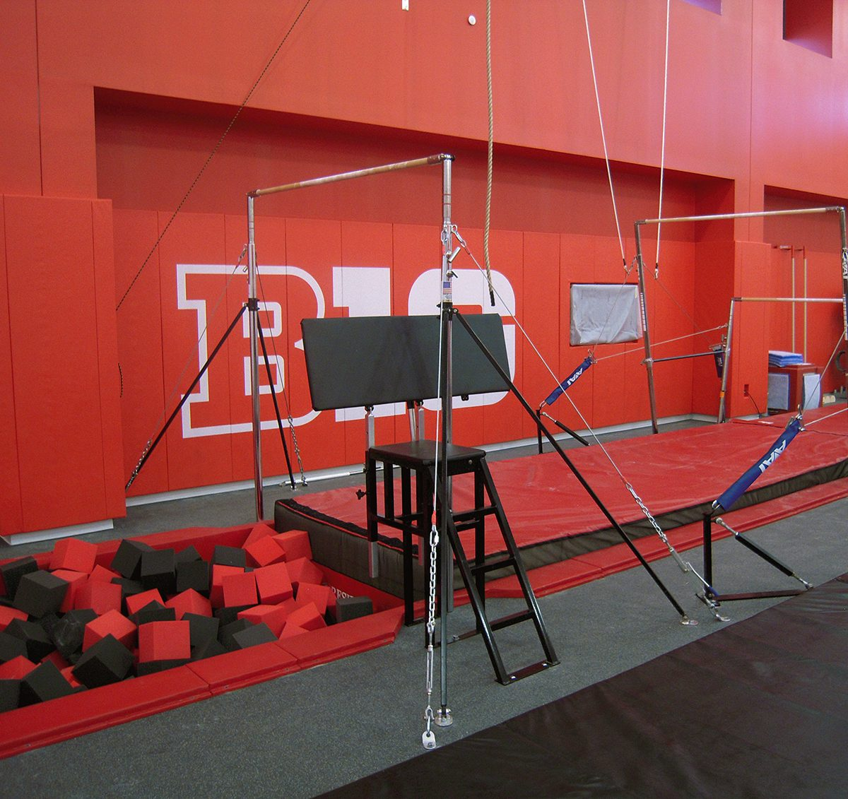 Rutgers University high bars gymnastics